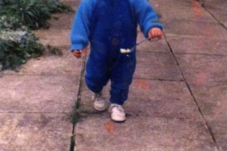 little me walking
